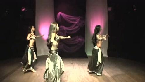 近距离观看部落肚皮舞,三位身子妖娆的舞者,跳得真带感