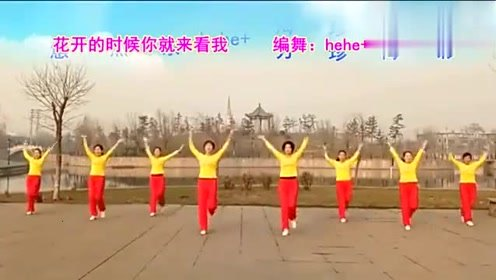 动感旋律健身舞《花开的时候你就来看我》简单好看又好学
