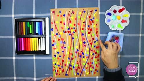 如艺童年美术小班第一课彩线连彩点第二步图片