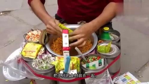 印度奇葩的街头小吃,每做一份小吃都要跳一支舞
