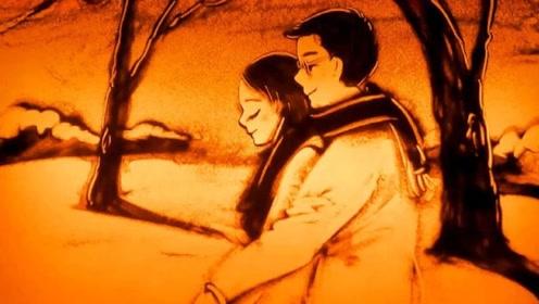 沙画:杨宗纬沙哑的嗓子,深情演绎《一次就好》,声声拨动我的心弦