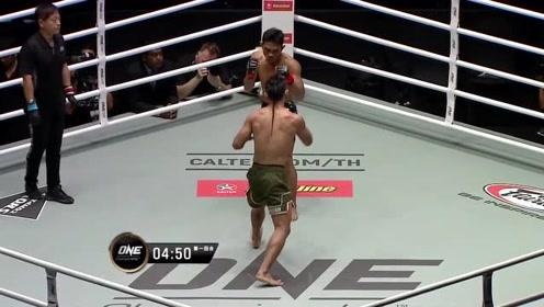 ONE冠军赛 马迪安对战冈萨雷斯,马迪安佯装攻击逼退冈萨雷斯