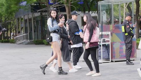 北京时尚街头,春季姑娘如何搭配自己,美丽大方还有气质