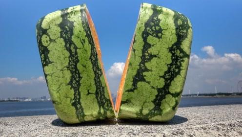 日本的方形西瓜凭啥卖到天价?老外一刀切开,瞬间肠子都悔青了!
