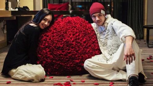 向佐520表白未婚妻同框甜秀恩爱,郭碧婷收巨束玫瑰笑靥如花