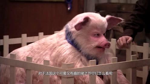 全球最怪异的节日,居民集体扮猪,猪叫声传遍小镇