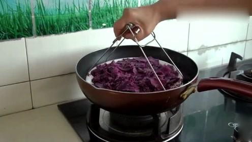 紫薯自从学会这样做,孩子天天吵着吃,这么做一盘不够自己吃!