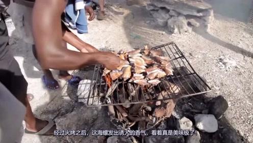 小伙买了50个海螺,看到他的吃法,网友以后不想吃海螺了!