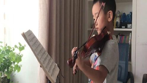 6岁半小朋友小提琴演奏里丁格《b小调协奏曲》
