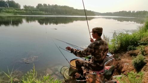 钓鱼牛人滑漂钓技白条鲫鱼通杀,曾经两天钓12尾鲤鱼!