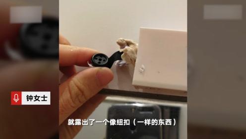深圳优衣库试衣间现针孔摄像头:扯下来还在拍摄中