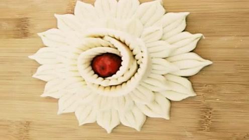 花样面食之红枣花卷,一切一卷,做法简单易学!