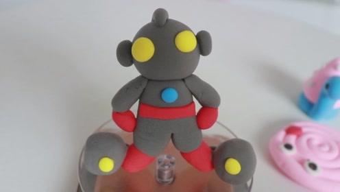 黏土创意手工:会打小怪兽的奥特曼,小朋友们都喜欢哦!教程简单图片