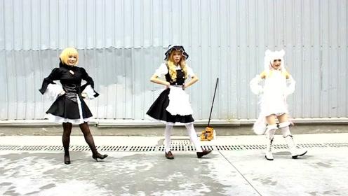 """这三位妹子超可爱,萝莉跳""""宅舞""""可爱至极,c位好评!"""