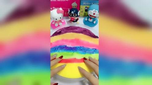 这么好看的彩虹泥是冰山泥吗?颜色真好看
