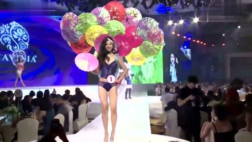 中国风内衣秀,模特这造型感觉像是耍杂技的