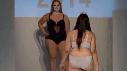 大码模特,身材向欧美看齐,诠释了丰腴美!