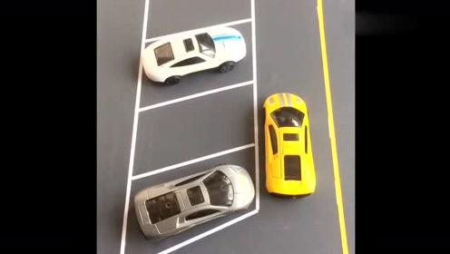 新手司机一遇见这种车位,就不知道该怎么办,专家教你一把倒库!