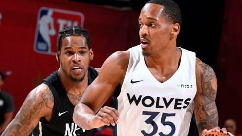NBA夏季联赛:森林狼比赛亮点,布朗骚走位晃晕对手!