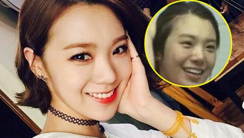 具有冲击性的韩国女星素颜照,卸妆如换头洋娃娃变大妈