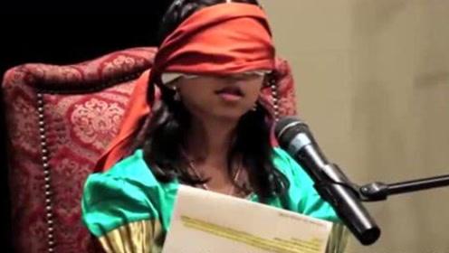 """神奇!印度女孩拥有""""第三只眼"""",不论蒙上多少层布也能看见外界"""