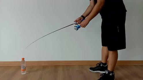 袖珍型钢笔鱼竿钓重测试,结果出乎我的意料