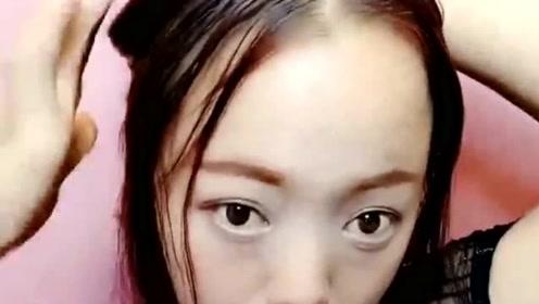 刘海尴尬期就这样扎头发,减龄又可爱,真是太美了!
