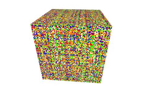 人工智能挑战55阶魔方,看的人眼花缭乱,恢复过程令人震撼!