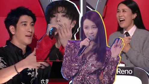 迪丽热巴华晨宇参加《好声音》?四位导师争先疯抢,画面超真实