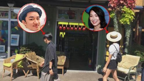 """偶遇李亚男夫妇加拿大逛街,王祖蓝当摄像师一路""""仰拍"""""""