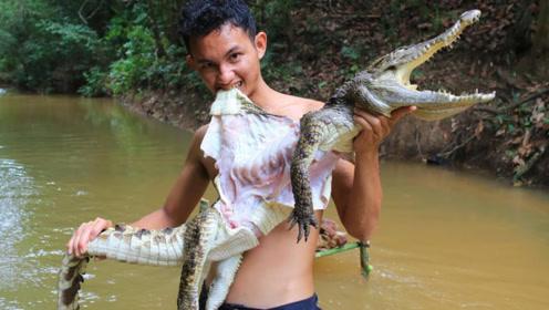 越南鳄鱼泛滥成灾,当地人如此处理,中国吃货:我们认输!