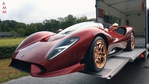 价值80万美金的神秘跑车,卸车那一刻才是霸气的开始!