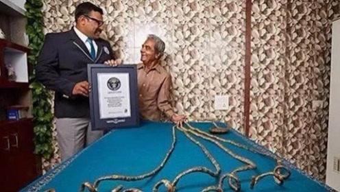 世界上最长指甲,印度男子留了66年,狠心剪掉后意外发生了