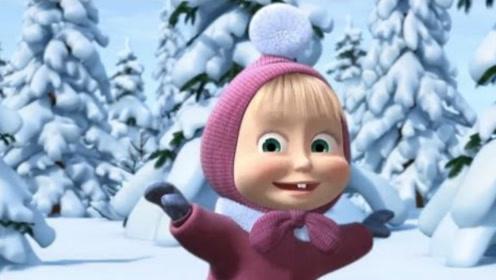丽莎找小熊学滑雪,小熊却想回家冬眠,假装摔倒后博取小熊同情!