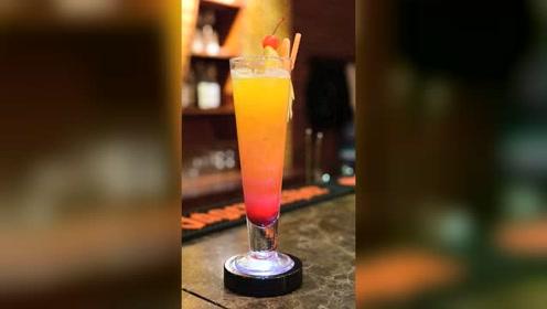 饮品师12秒教你制作一杯橙味冰镇饮品