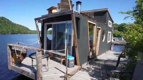 牛人在船上造房子,铁索一拉就能出航,最适合旅游达人