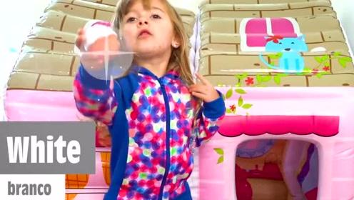 萌娃小可爱教你用美食学英文颜色怎么读,好可爱好聪明呀!