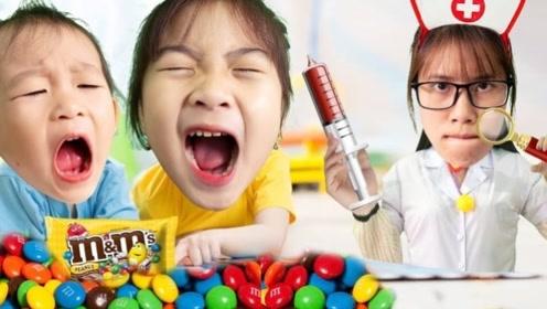 小姐妹俩晚上吃糖后,蛀牙疼到哇哇大哭,将牙医忙得团团转!