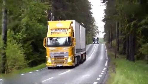 国外公路上各式各样的大卡车大集合