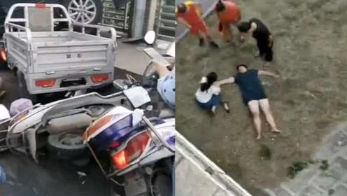河南一轿车大桥上撞伤3人司机非酒驾,警方:躲避车辆操作失误