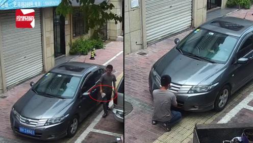 蠢哭!男子用纸巾遮挡车牌,不料监控全程拍下12分没了
