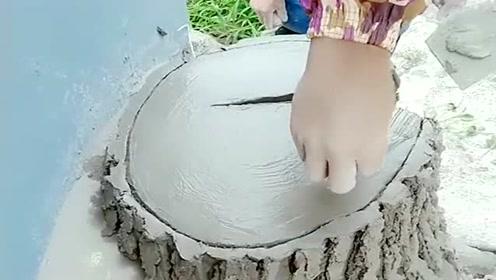 水泥在大师手中变成了木头,这到底是什么外家功夫