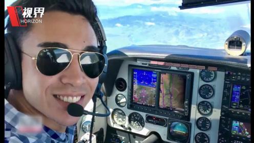 飞机坠入太平洋并沉没 飞行员毫发无损还在海上玩起了自拍