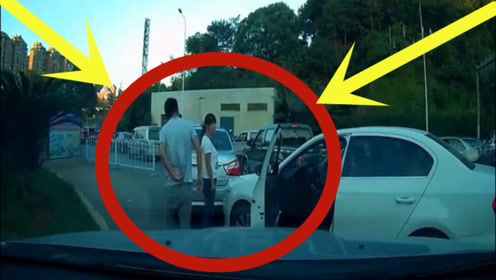 拥挤道路强行加塞,谁料竟追霸气女司机,下秒实在是尴尬!