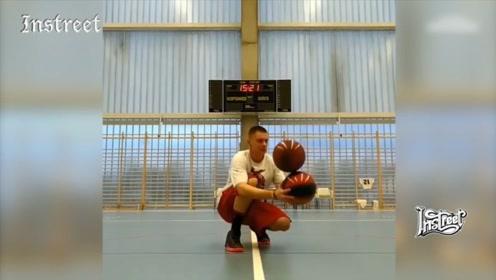 花式篮球大神,能让你眼花的操作