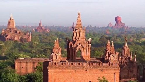 你见过缅甸的寺庙吗?在缅甸蒲甘市有2200多座佛教寺庙和宝塔