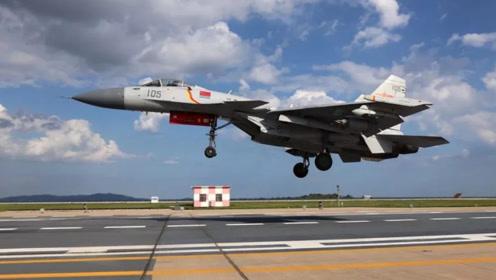 掀开中国舰载机训练基地面纱:歼15近景超清晰,着陆区仅36米
