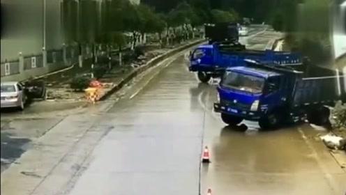 一条有毒的公路,大货车360度漂移