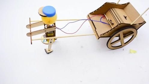 手工科技小制作!黄包车机器人语音版详细教程