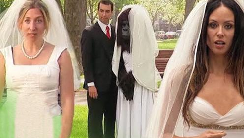 老外街头趣味实验,最佳婚礼恶作剧,路人纷纷傻眼!